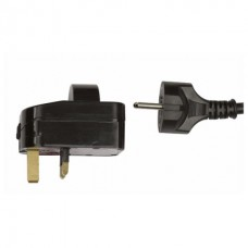 Showtec Schuko to UK Plug Adaptor