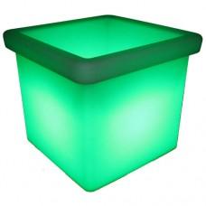 LED Low Square Planter